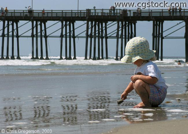 Girl by Oceanside Pier