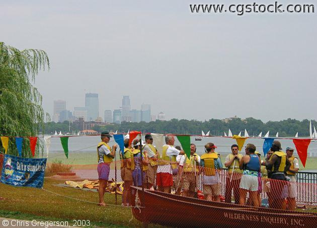 Canoe Lesson at Lake Calhoun