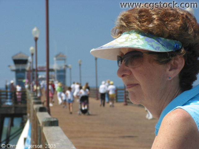 Linda on the Oceanside Pier
