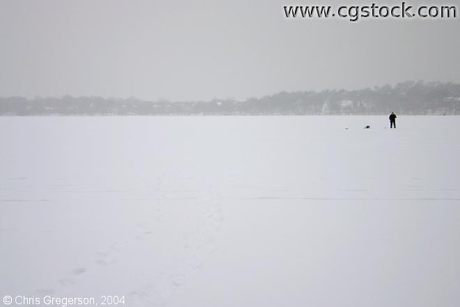 Ice Fisher on Lake Harriet