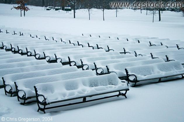 Snow-Covered Benches at Lake Harriet