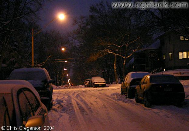 45th Street at Night in Winter