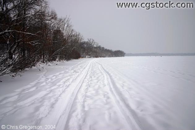 Ski Tracks on Lake Harriet
