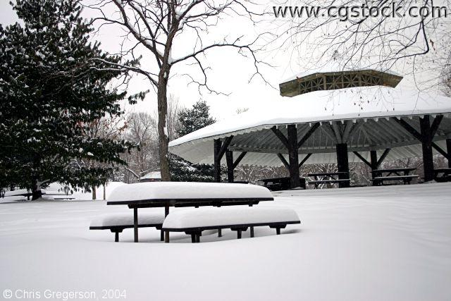 Picnic Pavilion in Winter