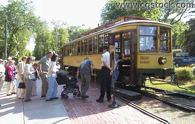 Boarding the Como-Harriet Streetcar