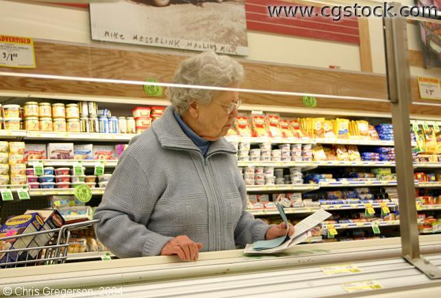 Grandmother at the Grocery Store