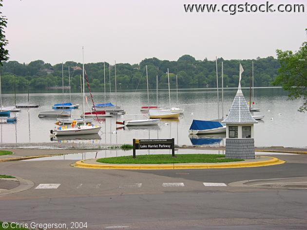 Lake Harriet Parkway and Sailboats