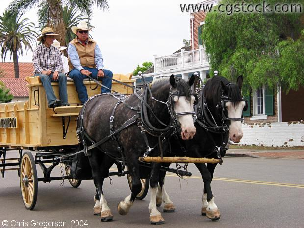 Horse-drawn Wagon, San Diego