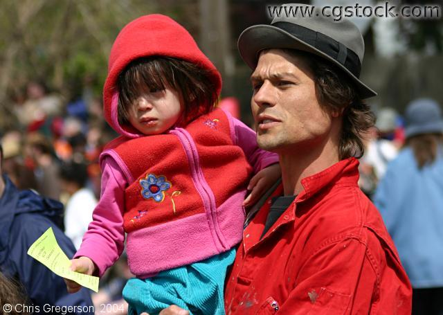 Helping a Lost Child, May Day Parade