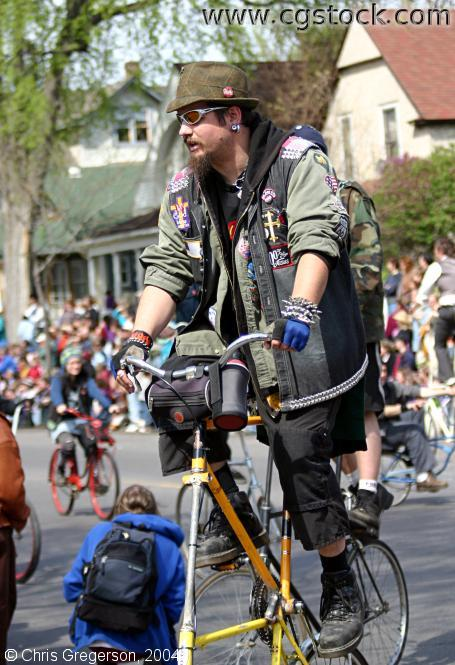 Double-Decker Bike, May Day Parade
