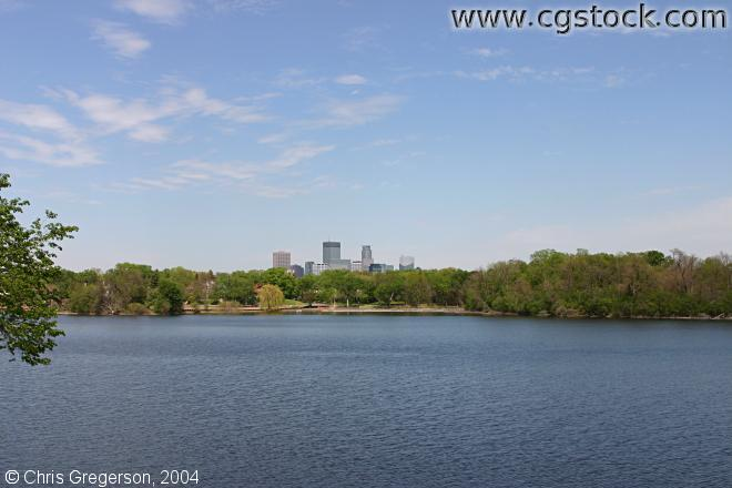 Lake of the Isles and Minneapolis Skyline
