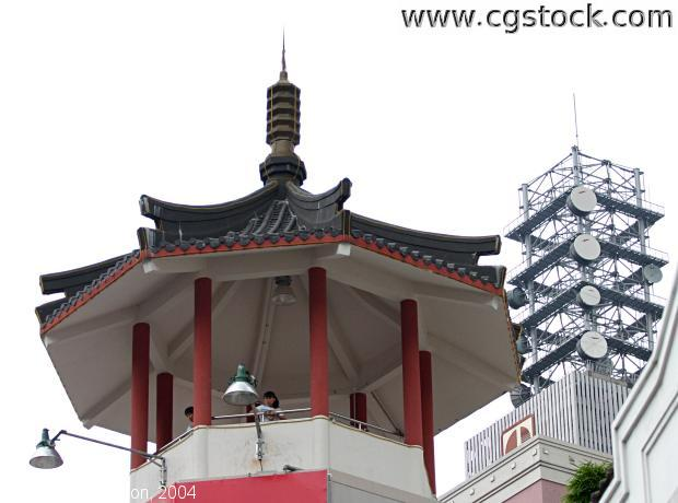 Pagoda and Communications Tower