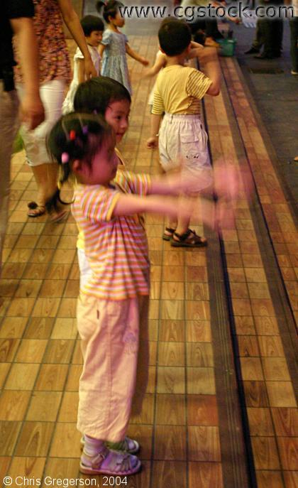 Pre-school Children Dancing