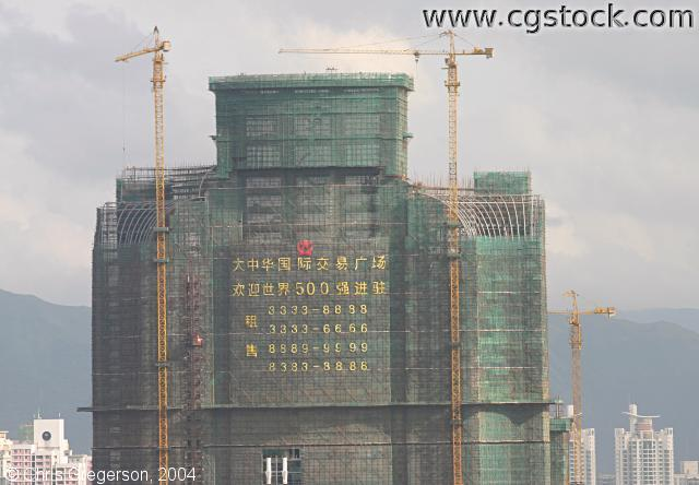 Shenzhen High-Rise Under Construction