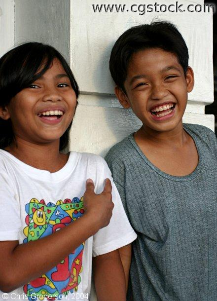 Filipino Boys Laughing