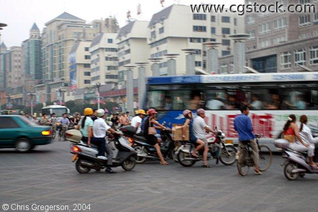 Crowded Intersection, Guilin, China