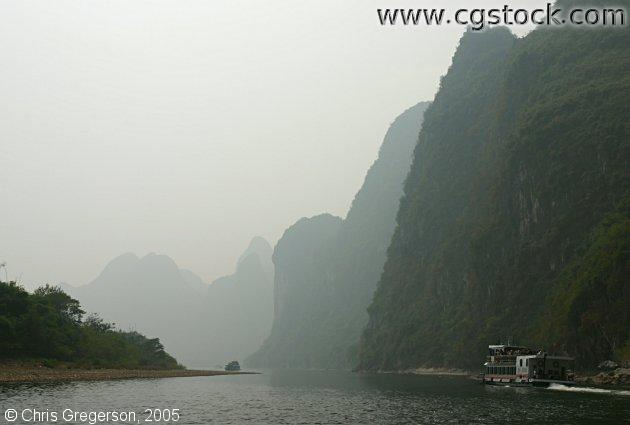 Mountains Along Li River, Guilin, China
