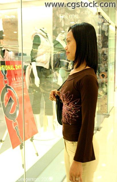 Woman Shopping in Beijing Mall