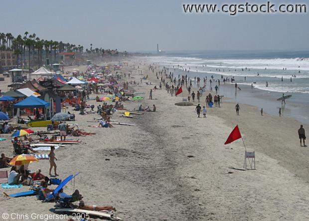 Beach at Oceanside, California