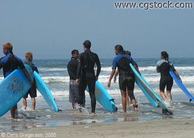 Surfing Class, Oceanside, California