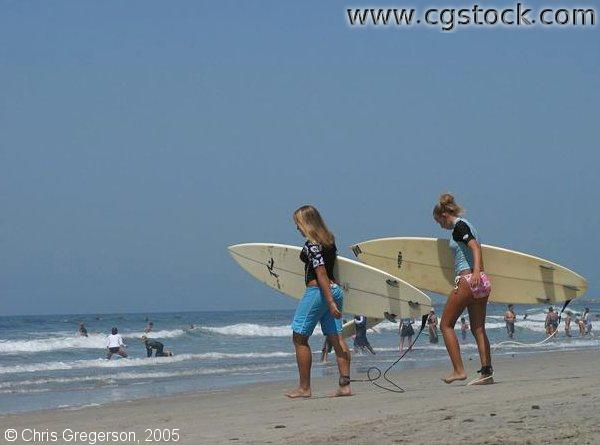 Teen Surfer Girls, Oceanside, California