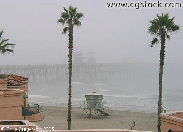 Oceanside Pier in Morning Fog