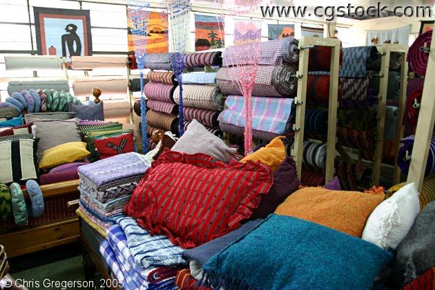 Looms of Hand-Woven Fabric in Baguio Store