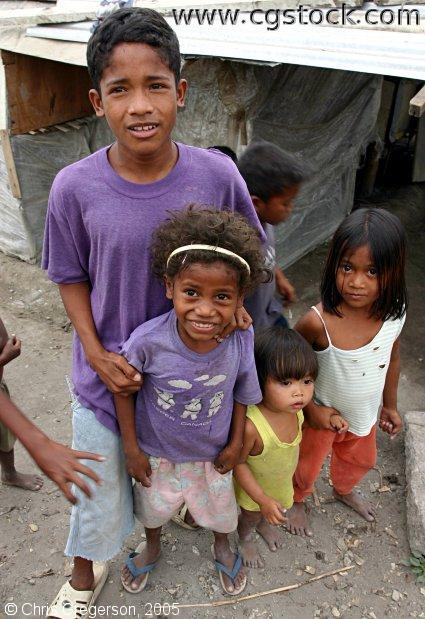 Children at Aeta Village, the Philippines