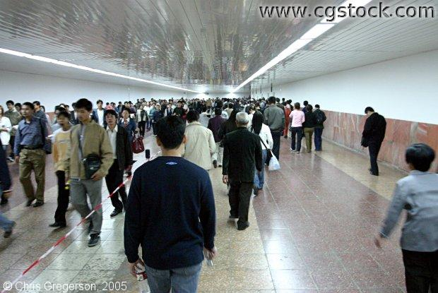 Pedestrian Tunnel in Downtown Beijing, China