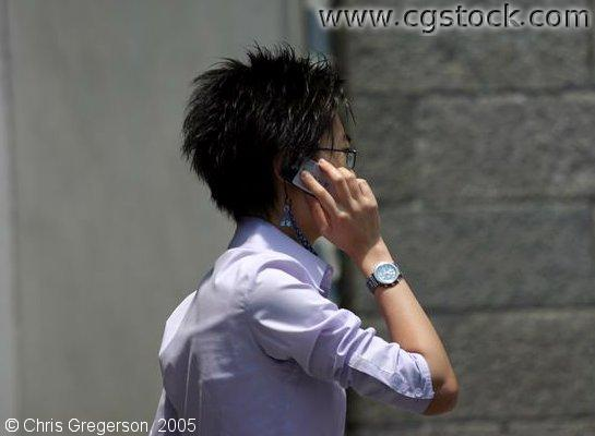 Woman on Cell Phone, Hong Kong
