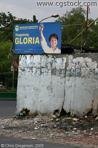 Street Garbage and Campaign Sign