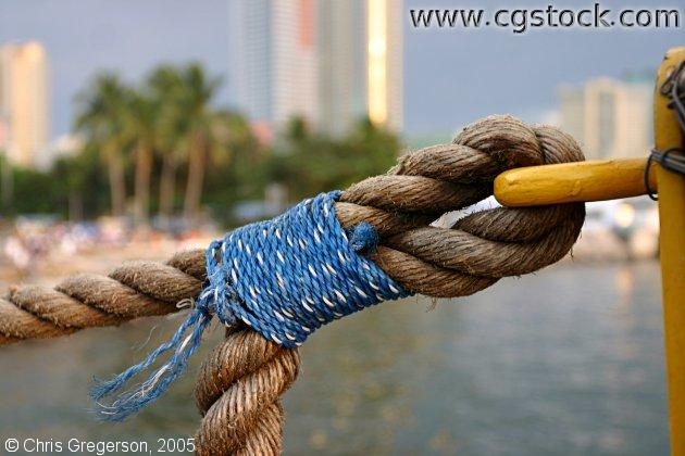 Rope in Manila Bay, the Philippines