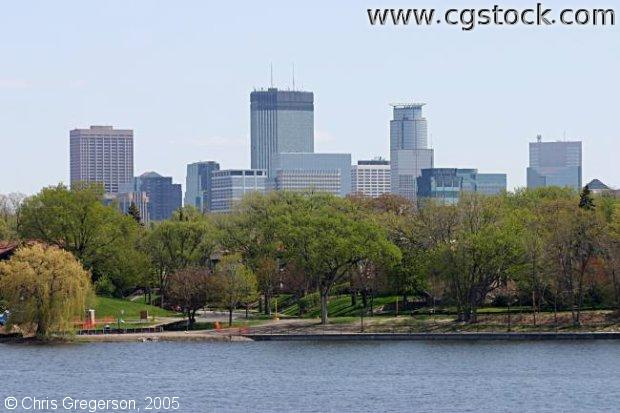 Minneapolis Skyline from Lake of the Isles