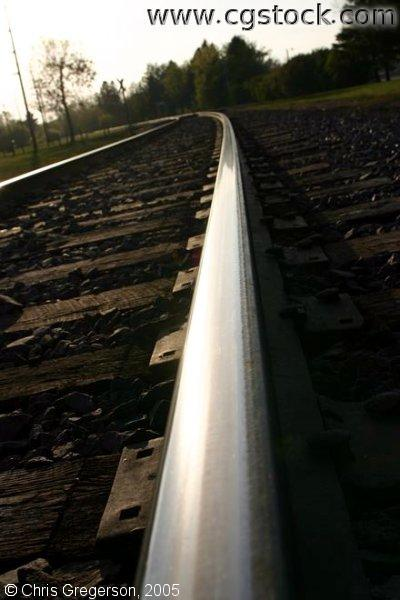 Foreshortened Bend in Railroad Tracks