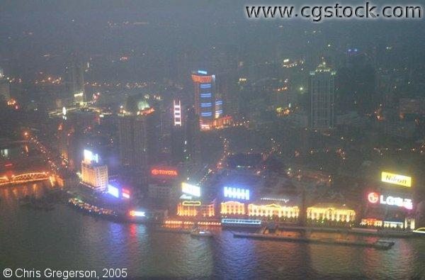 Shanghai At Night (Overhead)