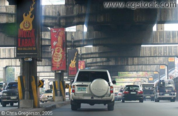 Traffic Tunnel on EDSA, Manila, Philippines