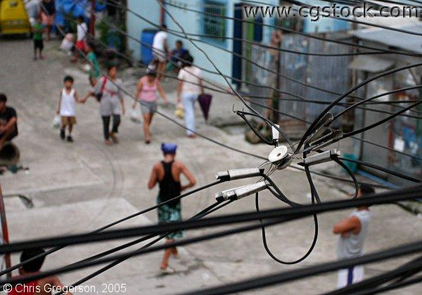 Power Lines in Manila, the Philippines