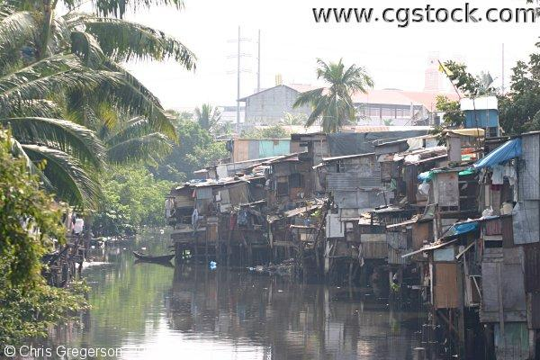 Shanties Along Pasig River in Manila