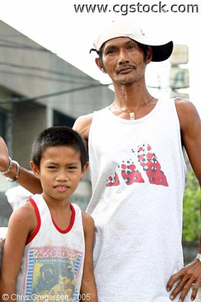 Father and Son, Manila, the Philippines