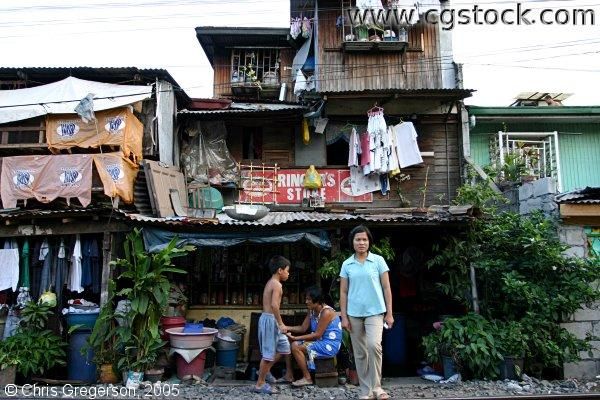 Housing in Santa Mesa, Manila, The Philippines