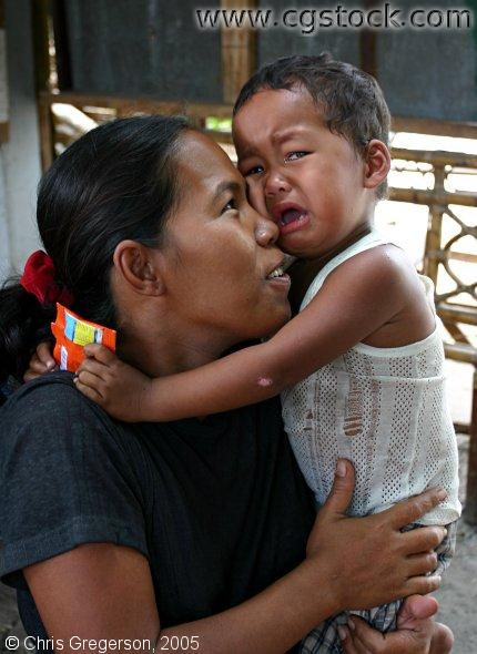 Mother and Frightened (Crying) Child, Philippines