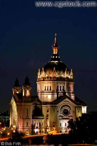 Cathedral of St. Paul at Night