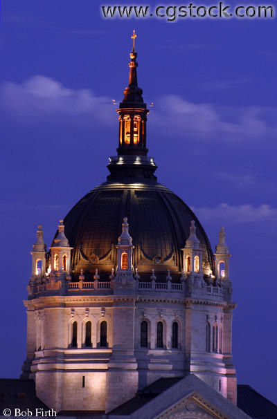 Cathedral of St. Paul Dome at Dusk