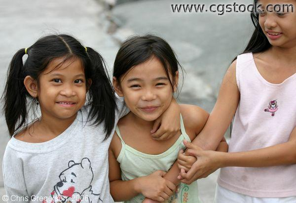 Three Sweet Kids, Angeles City, Philippines