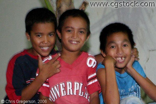 Reynaldo Areno, his Brother, and a Cousin