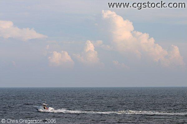 Motorboat on the Atlantic