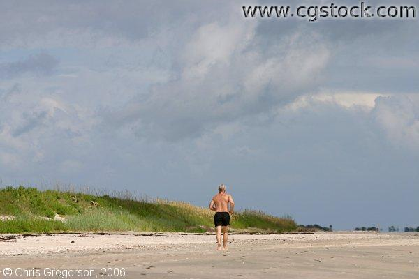 Male Jogger on the Beach