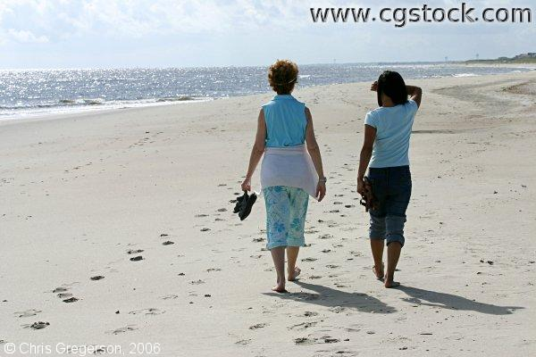 Women Walking Together, Oak Island Beach, NC