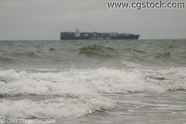 Container Ship on the Horizon
