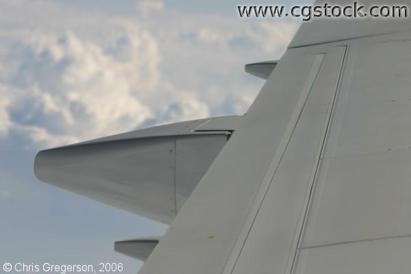 Aircraft Wing Detail and Clouds